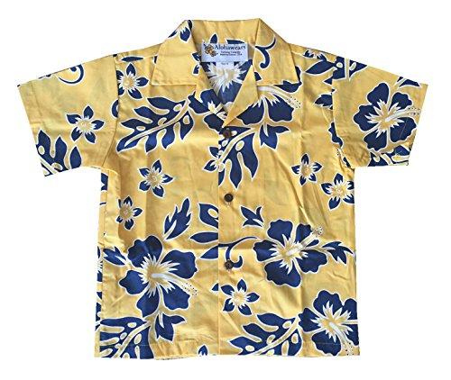 a02512fe Made in Hawaii ! Boy's Classic Hibiscus Hawaiian Aloha Shirt - Import ...
