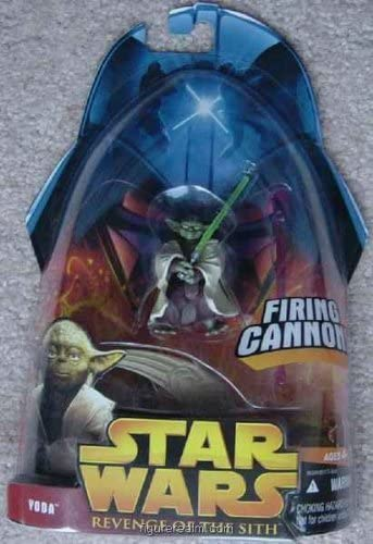 Amazon Com Yoda Firing Cannon From Star Wars Revenge Of The Sith Collection 1 Toys Games