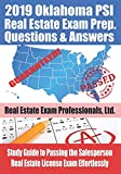 2019 Oklahoma PSI Real Estate Exam Prep Questions and Answers: Study Guide to Passing the Salesperson Real Estate License Exam Effortlessly