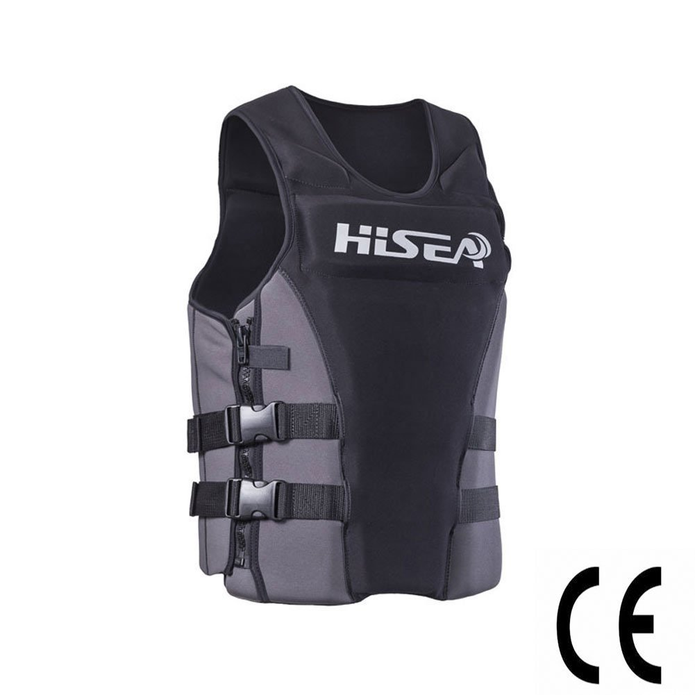 Fly Neoprene Profession Life Vest CE Adult Fishing Vest Surfing Drifting Motorboat Buoyancy Life Jacket Swimming Floating,XS