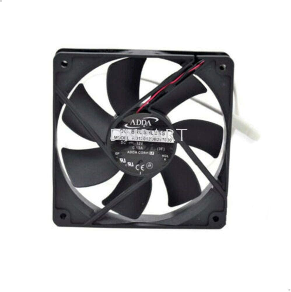 DNPART Compatible for ADDA AD12012DB257000 12012025MM 12CM 12V 0.13A 2Pin Cooling Fan