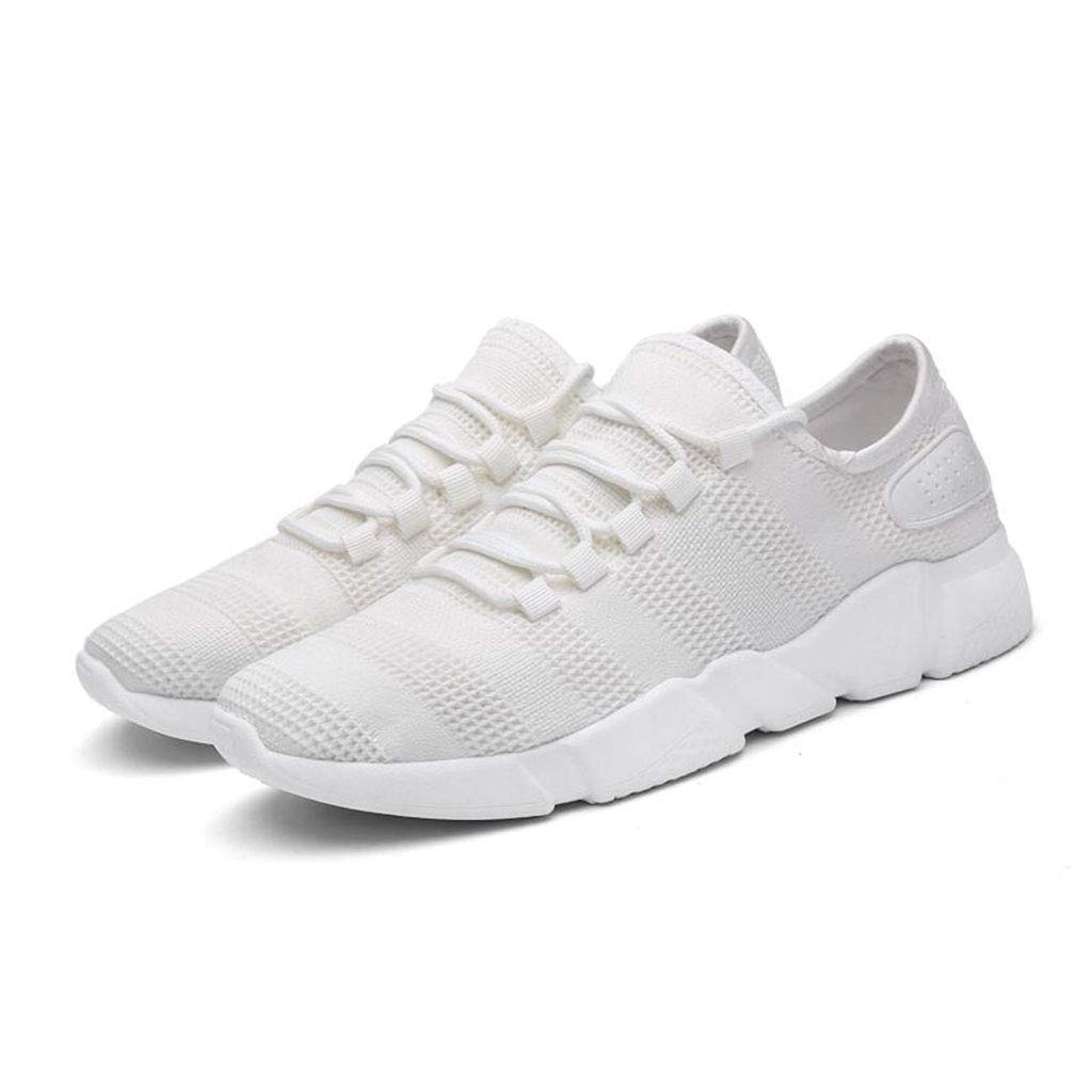 YIWU Sommer Sportschuhe Grau Grau Grau Herrenschuhe Atmungsaktive Schuhe Casual Herrenschuhe Canvas Schuhe Herren Laufschuhe Turnschuhe (Farbe   Weiß, Größe   EU41 UK7.5-8 CN42) 9dba0b