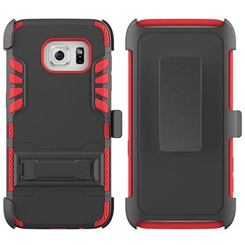 buy popular 4db97 018ff Amazon.com: S7 Edge Case, Galaxy S7 Edge Holster Case, PT Dual Layer ...