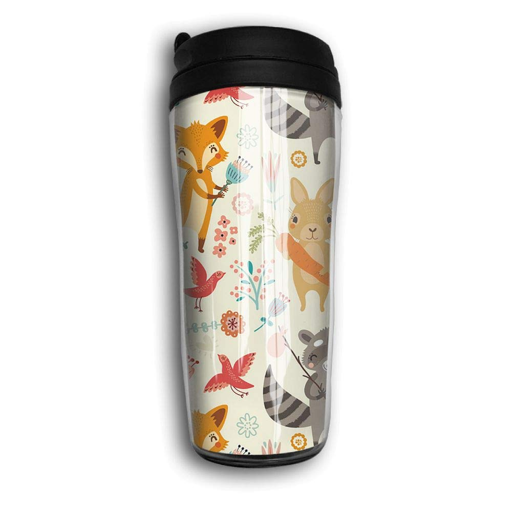 Xyou Forest Animals Stainless Lined Coffee Tumbler, 12-Ounce,Vacuum Insulated Tumbler,Travel Mugs.