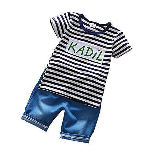 ftsucq-little-boys-girls-letter-striped-shirt-top-with-denim-shorts-two-pieces-setsblack-90