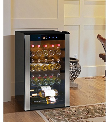 Vinotemp 6 Bottle - Vinotemp EL-35VCMS 34-Bottle Wine Cellar, Stainless Steel