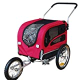 Doggyhut Medium Pet Bike Trailer / Jogger Kit Dog Bicycle Carrier Red 7030101