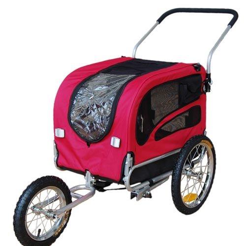 Doggyhut Medium Pet Bike Trailer / Jogger Kit Dog Bicycle Carrier Red 7030101 by Veelar