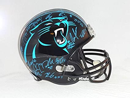 reputable site d684c 0ef3d Amazon.com: Carolina Panthers Team Signed Full Size Helmet ...
