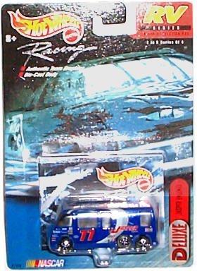 Hot Wheels Racing - NASCAR - RV Series - Deluxe: Jasper Engines #77 - GMC Motor Home (Blue) Gmc Motorhome