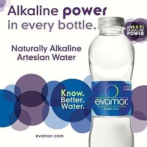 Evamor Natural Alkaline Artesian Water-32 Ounce Bottles (Pack of 6)-Alkaline Natural Artesian Water, Plastic Water Bottles, Recyclable