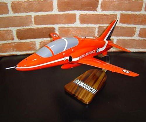 1/24 BAe HAWK T-1 RED ARROWS (BAe) レッドアローズ 中等練習機 木製飛行機模型 ソリッドモデル