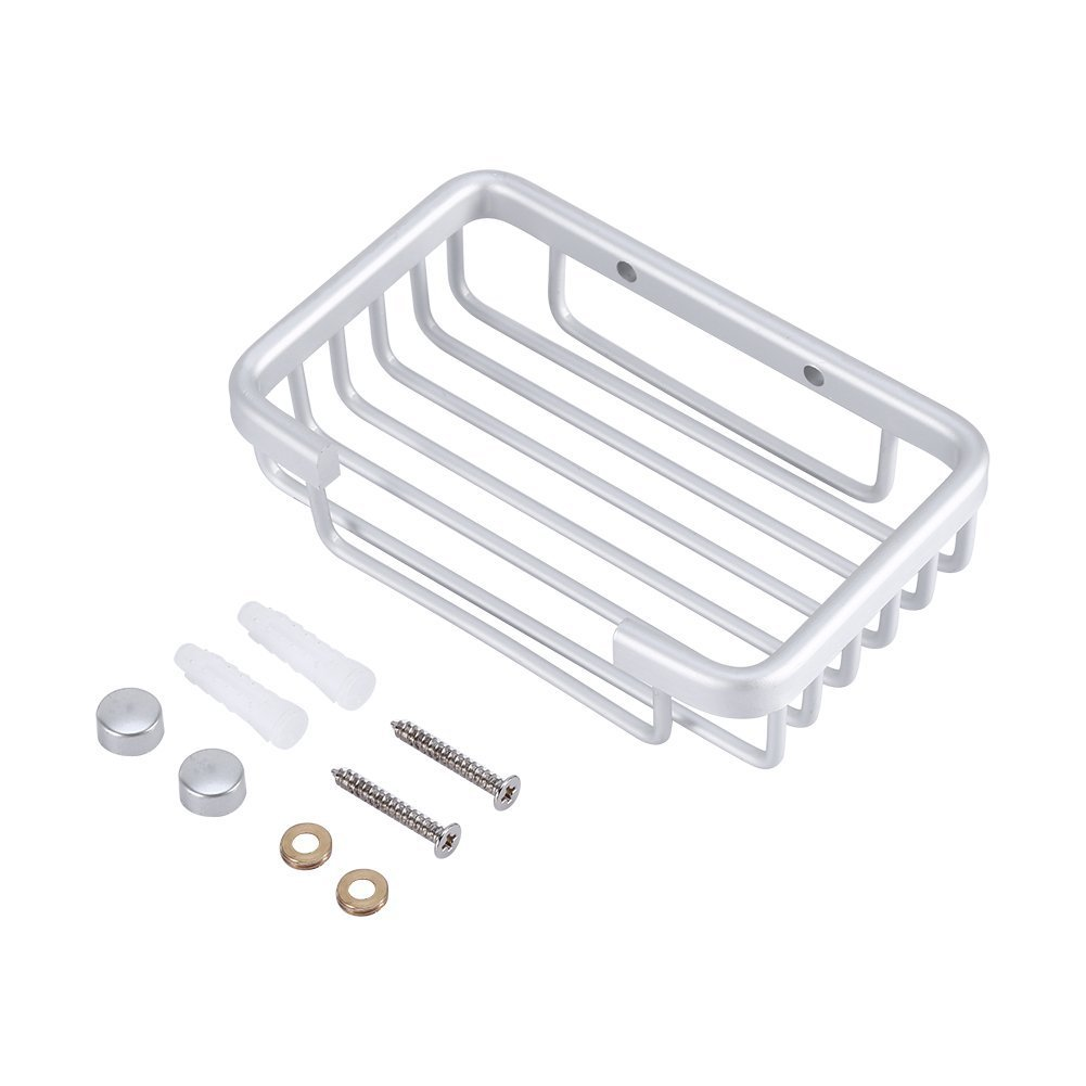 Aluminum Vacuum Soap Dish Holder,Wall Mounted Soap Holder Yosoo LEPAC1444