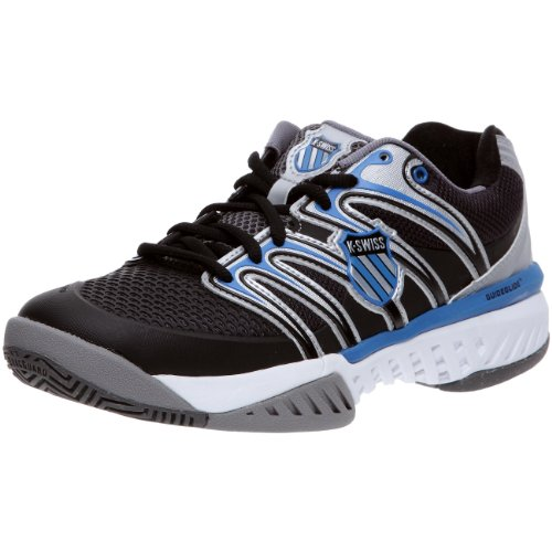 K-Swiss Men's Bigshot Tennis ShoeCharcoal/Black/Brilliant Blue8.5 M