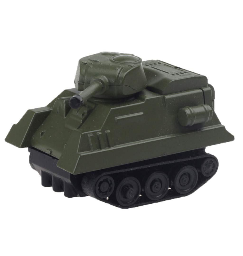 マジック誘導タンク玩具 Sacow Follows ブラックラインマジックトイカー 子供用 6.5×4×5.8CM 021 B07L9Y323B アーミーグリーン