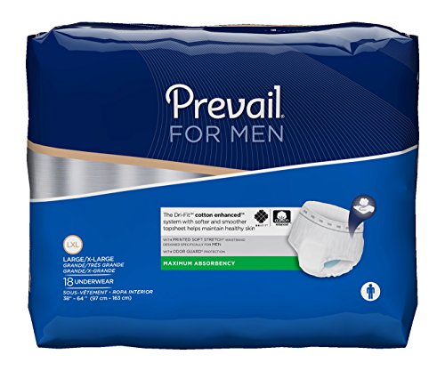 Pull Prevail (Prevail Disposable Underwear for Men - Full Case of 72 (244-5294 ))