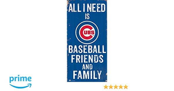 and Family Wood Sign Fan Creations MLB Kansas City Royals 6 x 12 All I Need is Baseball Friends