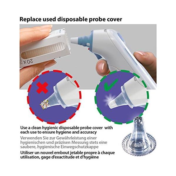 Protectores de lente del ThermoScan de Braun para termómetros de oído - Paquete de 40 10