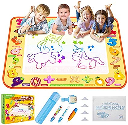 Education Toy Kids Baby Painting Magic Pen Water Mat Drawing Toy Travel Doodle Board Scribble Board Magic Drawing Doodle Mat
