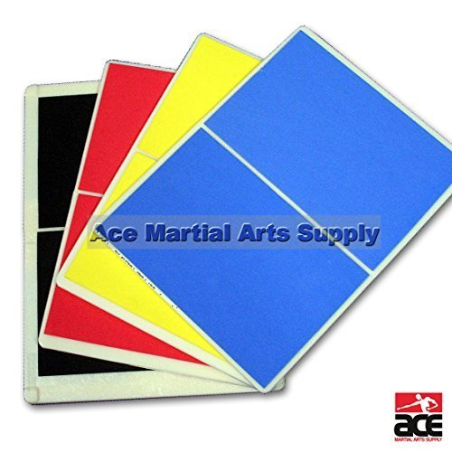 Ace Martial Arts Supply Martial Arts Taekwondo MMA Karate Rebreakable Board Set - Yellow Blue Red & Black (Taekwondo Karate)
