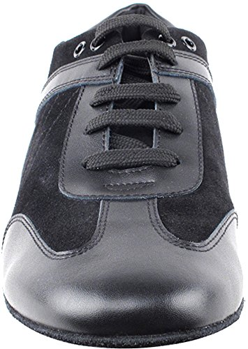 Men's Ballroom Latin Salsa Sneaker Dance Shoes Leather Black SERO106BBXEB Comfortable - Very Fine 8.5 M US [Bundle of 5] by Very Fine Dance Shoes (Image #2)