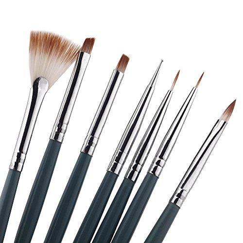 15PCS Design Painting Pen Nail Art Brush Set for Salon Manicure DIY Tools (Pink) - 3