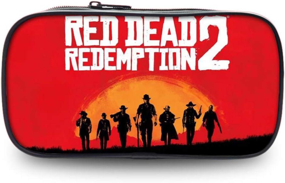 Red Dead Redemption 2 Estuche para lápices Gran Capacidad Impresión de Papelería Estudiantes Estuches con Cremallera Estuche de Lápices Escolar Pencil Case: Amazon.es: Equipaje