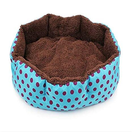 Cupcinu Cama para Mascotas Cama para Perros Blanda Cama elíptica para Gatos Octogonal Cama para Perros