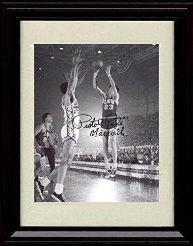Framed Pete Maravich LSU Tigers Autograph Replica Print - Pistol Pete