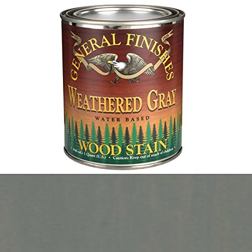 General Finishes Wood Stain (General Finishes Water Based Wood Stain, Weathered Gray, Quart)