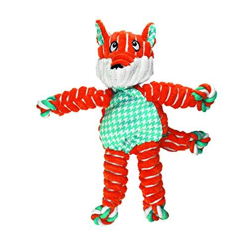 Classic Toy Dog (KONG Floppy Knots Fox, Dog Toy, Medium/Large)