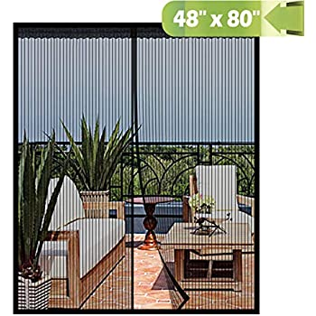 Amazon.com: Cortina de puerta para colgar con mosquitera de ...
