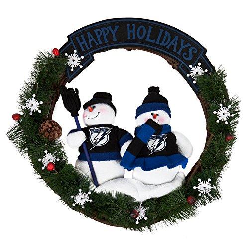 SC Sports Tampa Bay Lightning Team Snowman Wreath ()