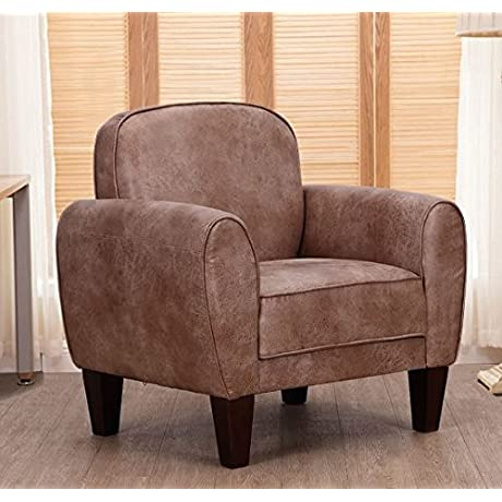 K A Company Single Recliner Sofa Arm Chair Fabric Modern Recliners Linen Wood Frame Accent Upholstered Tan