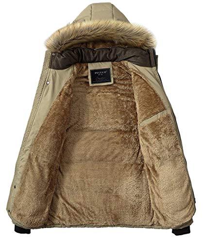 Giacca Cappuccio Inverno A Staccabile Trapuntata All'aperto Ntel Kaki Con Giacche Autunno Abbigliamento Più Di Spessi Cappuccio Maschile Parka Caldo Cotone Vento Con Cerniera RqZwZC