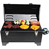 Keg-a-Que 175 Inch Chrome-Plated Steel Wire Toolbox Indoor Outdoor Use Charcoal Grill, Measures 13'' x 20'' x 21''