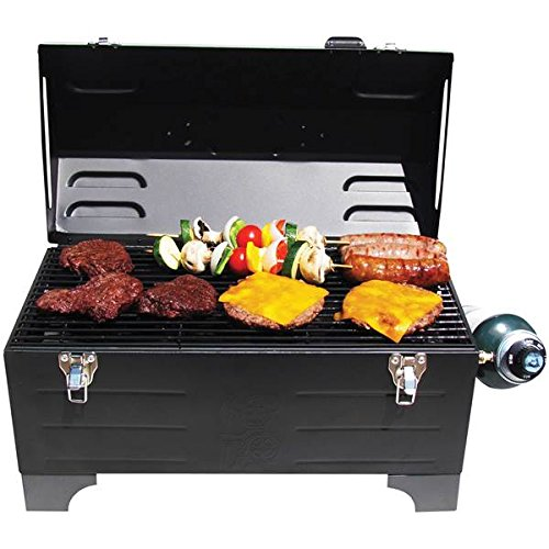 Keg-a-Que 175 Inch Chrome-Plated Steel Wire Toolbox Indoor Outdoor Use Charcoal Grill, Measures 13