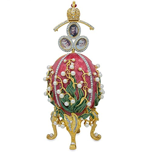 (BestPysanky 1898 Lilies of The Valley Royal Russian Egg 8 Inches)