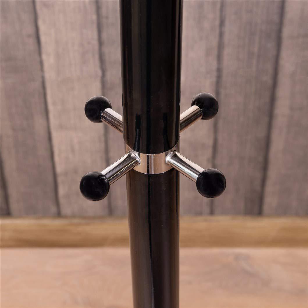 Appendiabiti Waved in Metallo e Marmo Maxx Colore: Nero con 14 Ganci 173 cm