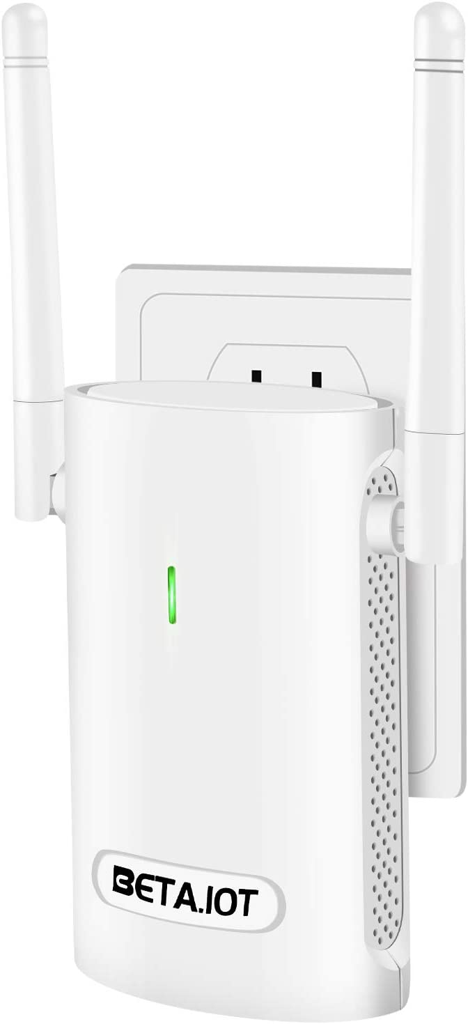 WiFi Extender-WiFi Boosters for The House-Covers Up to 2500 Sq.ft and 20 Devices,BETA.IOT 2.4 GHz /300Mbps WiFi Range Extender,Wireless Signal Booster & Repeater to Extend WiFi Signal to Smart Home