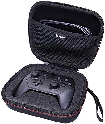 LTGEM - Funda rígida para Nintendo Switch Pro Controller (gris ...