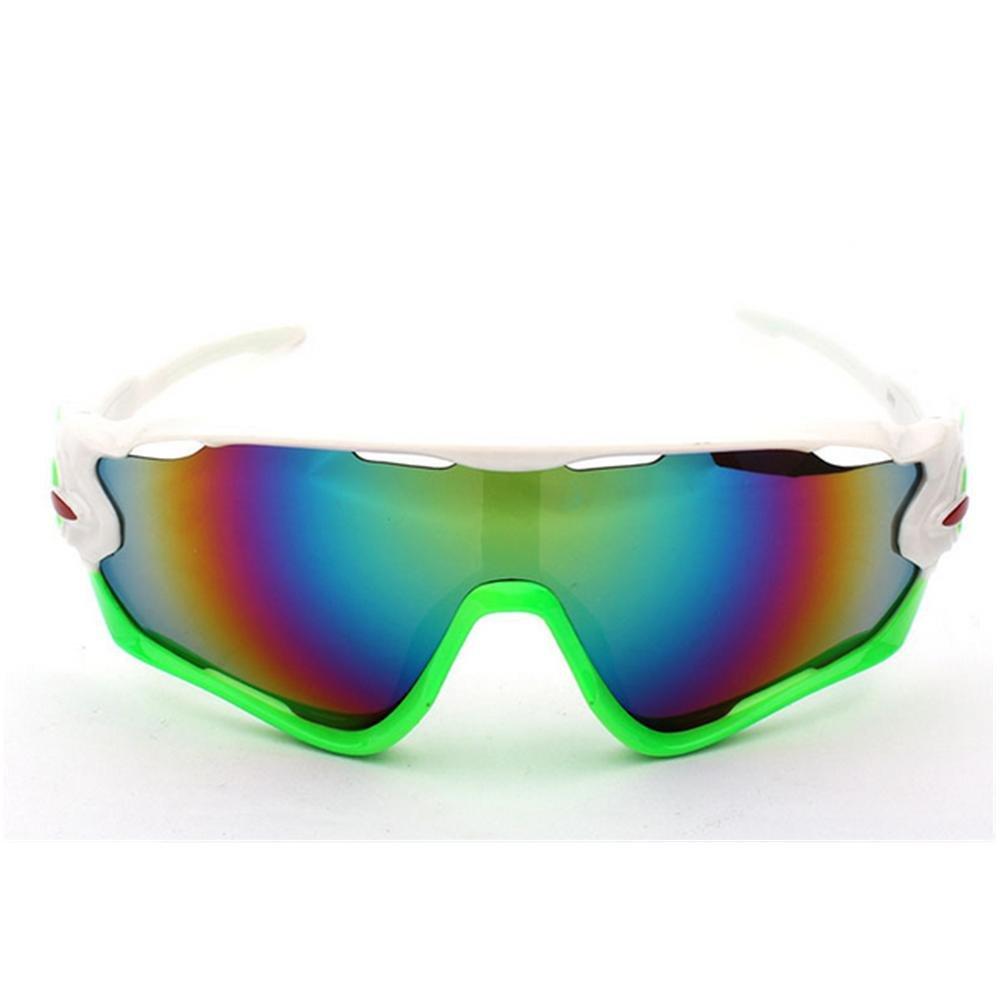 DZW Outdoor Reiten Brille Fahrrad Sonnenbrille 3 Sätze Motion 9270 von polarisierten Sonnenbrillen , Weiß frame Gelb edge Grün film
