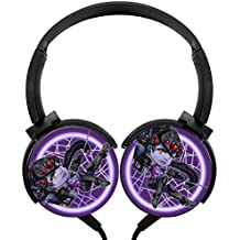 Hidui Heavy Bass Headphone Cool Woman Surround Sound High Fidelity Stereo Rotation Axis Design Portable Wired Headset For Adult's or Child's