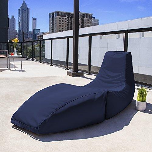 Cheap Jaxx Prado Outdoor Bean Bag Chaise Lounge Chair, Navy