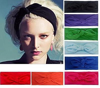 Women 8 PCS Headbands Headwraps Hair Bands Bows Accessories