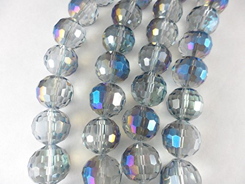 1 Str Blue Heliotrope 16mm Round 96 Facets Beads for Jewelry Making, Supply for DIY Beading ProjectsCrystal Beads for Jewelry Making, Supply for DIY Beading Projects (Beads Round 16mm Facet)