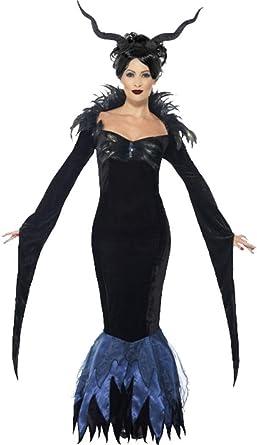 Ladies Halloween Horror fiesta de disfraces disfraz de Maléfica Lady Raven Outfit: Amazon.es: Ropa y accesorios
