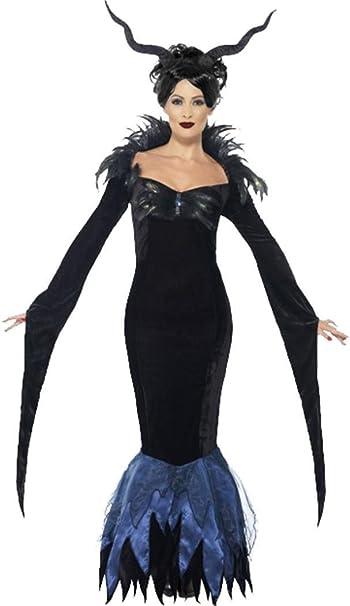 Ladies Halloween Horror fiesta de disfraces disfraz de Maléfica ...