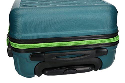 Valigia trolley rigido PIERRE CARDIN petrolio mini bagaglio a mano ryanair VS187