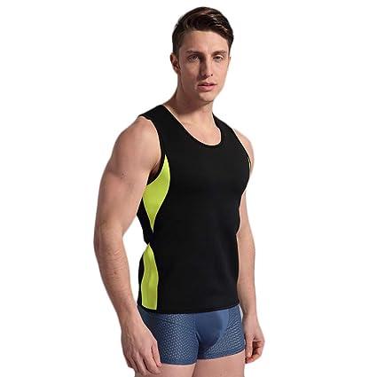 74cfa99b17df Amazon.com   Slimming Vest Mens Body Shaper Hot Shirt Neoprene Sweat Sauna  Suit Mens Slimming Fitness Waist Trainer Tank Top No Zipper   Sports    Outdoors